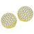 6.60ct Diamond Gold Button Earrings| Israel Rose