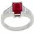 2.15ct Burmese Ruby 0.83ct Diamond Platinum Ring  | Israel Rose