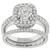Estate GIA Certified 0.92ct Cushion Cut Diamond Platinum Engagement Ring And Diamond Eternity Platinum Wedding Band Set