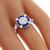 GIA 1.03ct Diamond Sapphire Gold Engagement Ring