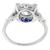GIA 1.03ct Diamond Sapphire Gold Engagement Ring | Israel Rose