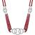 15.00ct Ruby 5.00ct Diamond Gold Necklace| Israel Rose