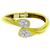 Estate 2.50ct Old Mine Pear Shape & Round Brilliant Diamond 18k Yellow And White Gold Bangle