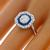 GIA 0.96ct Diamond Sapphire Gold Engagement Ring | Israel Rose