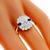 GIA 1.19ct Diamond Sapphire 2 Tone Gold Engagement Ring | Israel Rose