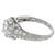 Antique Art Deco GIA Certified 0.89ct Round Brilliant Diamond Platinum Engagement Ring