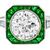 Art Deco Inspired 2.28ct Diamond  Emerald Gold Ring  | Israel Rose