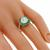 Art Deco Inspired 2.28ct Diamond  Emerald Gold Ring
