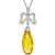 8.63ct Citrine 0.45ct Diamond Gold Pendant