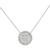 Vintage 2.01ct Round & Baguette Cut Diamond 14k White Gold Pendant Necklace