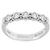 Estate 0.50ct Round Brilliant Diamond Platinum Wedding Band