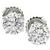 Estate GIA Certified 1.00ct And 1.01ct Round Brilliant Diamond 14k White Gold Studs Earrings