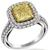 EGL 2.01ct Natural Fancy Yellow And 0.91ct White Diamond Ring