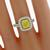Estate EGL Certified 2.01ct Cushion Brilliant Natural Fancy Yellow Diamond 0.91ct Round Brilliant Diamond 18k White Gold Engagement Ring