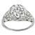 Antique Edwardian 1.79ct Old European Brilliant Diamond Platinum Engagement Ring