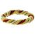 Estate 1960s Pearl And Coral  Bead 18k Yellow Gold  French Twist Rope Bracelet