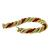 Pearl And Coral  Bead 18k Yellow Gold  French Twist Rope Bracelet