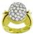 Estate 1.05ct Round Cut Diamond 18k Yellow And White Gold Ring