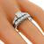 Estate 0.60ct Diamond Engagement & Wedding Band Set  | Israel Rose