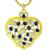 7.00ct Sapphire 2.00ct Diamond Gold Heart Pendant