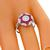 0.59ct Diamond Ruby Gold Engagement Ring | Israel Rose