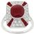 Art Deco Style 2.35ct Oval Cabochon Center Ruby 0.50ct Round Cut Diamond 0.30ct French Faceted Cut Ruby 18k White Gold Ring