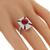 Estate 2.35ct Ruby Diamond Gold Ring  | Israel Rose