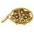 Diamond Enamel 14k Yellow Gold  Pin/ Pendant