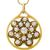 Antique Diamond Enamel Gold  Pin/ Pendant