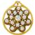 Antique Diamond Enamel Gold  Pin/ Pendant| Israel Rose