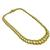 Estate 18k Yellow And White Gold Tapering Double Chain Link Necklace