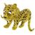 Gold Ruby Enamel Tiger Pin | Israel Rose