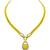 Estate Cartier 6.00ct Oval Cut Yellow Sapphire 2.00ct Round Brilliant Diamond 18k Yellow Gold Necklace