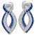 1.50 Sapphire 1.00ct Diamond Gold Drop Earrings