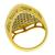 Diamond Cluster 14k Yellow Gold Ring