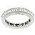 Estate 1.45ct Asscher Brilliant Diamond Eternity Platinum  Wedding Band