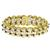 2.10ct Sapphire 3 Row Pearl Gold Bracelet | Israel Rose