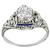 Art Deco GIA 1.07ct Diamond Sapphire Engagement Ring | Israel Rose