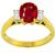 2.65ct Burmese Ruby 0.50ct Diamond Gold Ring | Israel Rose