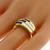 Estate 0.75ct Square Cut Sapphire 0.60ct Carre Cut Diamond 18k Yellow Gold Ring