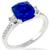 3.27ct Ceylon Sapphire 0.40ct Diamond Gold Ring