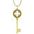 Tiffany  Diamond Gold Key Pendant