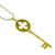 Diamond 18k Yellow Gold Key Pendant
