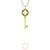 Estate Tiffany & Co Round Cut Diamond 18k Yellow Gold Key Pendant