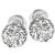 Estate 2.29ct Old Mine Cut Diamond 18k White Gold Stud Earrings