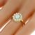 Antique Victorian 0.51ct Old Mine Cut Diamond 14k Yellow Gold Ring