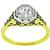 Antique Victorian 0.75ct Round Brilliant Cut Diamond 14k White And  18k Yellow Gold Engagement Ring