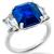 6.69ct Sapphire 1.22ct Diamond Platinum Ring