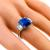 Estate 6.69ct Asscher Cut Sapphire 1.22ct Trapezoid Cut Diamond Platinum Ring