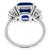 6.69ct Sapphire 1.22ct Diamond Platinum Ring | Israel Rose